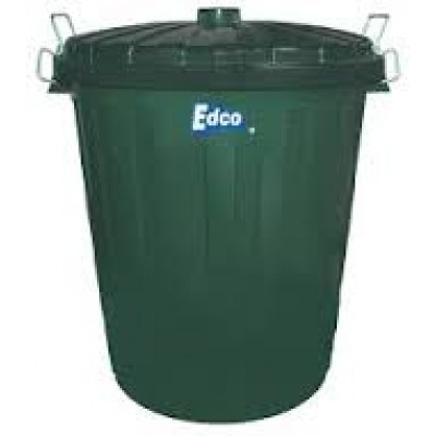 EDCO  19195 PLASTIC GARBAGE BIN 73 Lt GREEN WITH LID EDCO