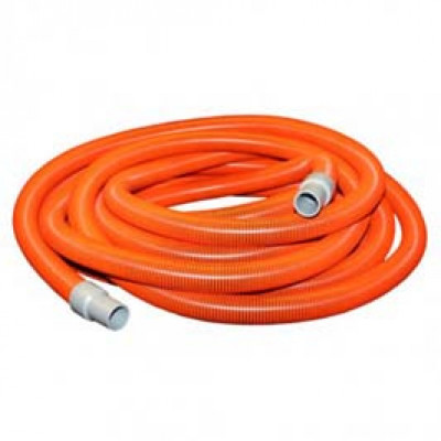 10-0993OR  VAC HOSE 7.5METRE FOR SHAMPOO MACHINE 38MM ORANGE WITH HOSE CUFFS
