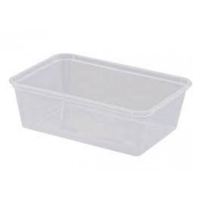 PLASTIC  G750 PLASTIC RECTANGULAR CONTAINER 750ML 500 PER CARTON