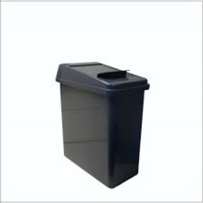 SANITARY LDS-GREY SANITARY  BIN GREY WITH LID FOR WOMEN'S TOILETS