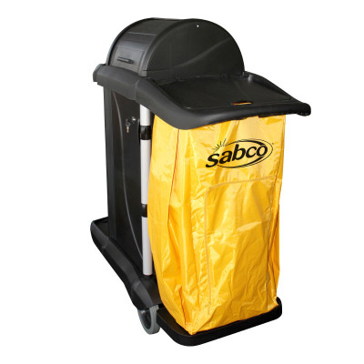 SABCO  SABC2023 SABCO CLEAN UP CART WITH HOOD AND LOCKING CABINET
