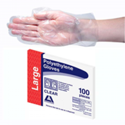 GLOVES GLVPEL100L LIVINGSTONE INTERNATIONAL CLEAR GLOVE POLY LARGE 2500 CARTON  GLOVES