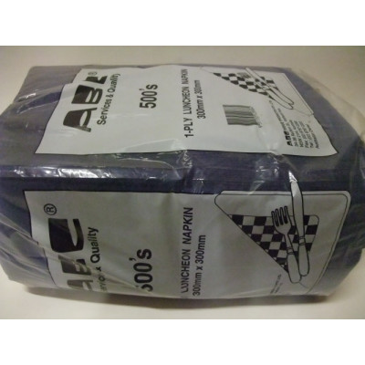 ABC  D-216BLK ABC  SERVIETTES DINNER 1PLY BLACK 400mmx400mm 1000's