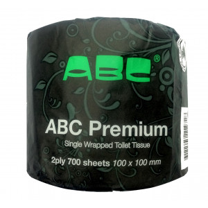 ABC  0-700V ABC  TOILET PAPER ROLLS PREMIUM 2PLY 700 WRAPPED 48 ROLLS