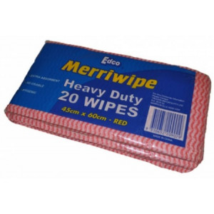 EDCO 19701  MERRIWIPE CLOTHS RED 45X60 HEAVY DUTY 200 CARTON  EDCO