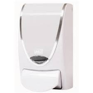 DEB 2127  DISPENSER PROLINE 1L WHITE WITH CHROME BORDER FIT 1 LITRE DEB SOAPS
