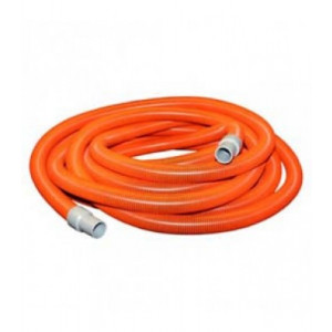 HG38O-CUFF  VAC HOSE 15 METRE FOR SHAMPOO MACHINE 38MM ORANGE WITH HOSE CUFFS