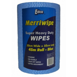 EDCO 56100  WIPING CLOTH MERRIWIPE ROLL 30X50X45M BLUE EDCO