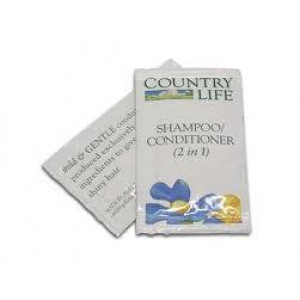0827  COUNTRY LIFE HAIR CONDITIONER SHAMPOO 8ml SACHETS 500 CARTON