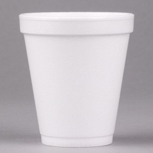 CUPS  8J8 CUPS FOAM 8oz 237ml WHITE 1000 CARTON