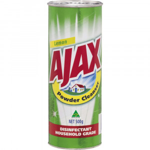 AJAX  AJAPOWL AJAX POWDER 500grm SHAKERS LEMON