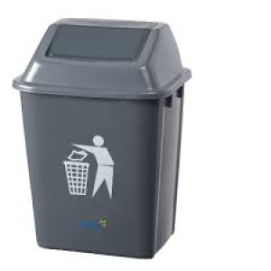 SWING TOP BIN OATES 20LTR GREY