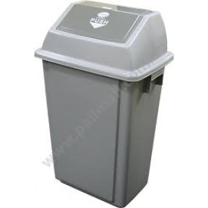 GALA SWING TOP TIDY BIN 58LTR HEAVY DUTY GREY