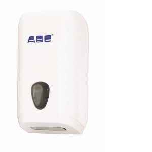 ABC ABCD-2501 ABC  DISPENSER MINI SINGLEFOLD HAND TOWEL WHITE PLASTIC WITH WINDOW