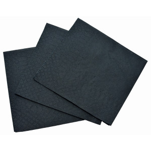 ABC  DS-209BLK ABC  SERVIETTES COCKTAIL 2ply BLACK 230mmx230mm 2000's