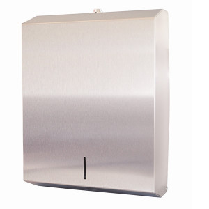 ABC DISPENSER INTERLEAVED HAND TOWEL STAINLESS STEEL TO SUIT ALL INTERLEAVED & INTER-FOLD HAND TOWEL