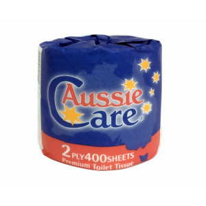 ABC AUSSIE CARE PREMIUM TOILET ROLLS 400SHEETS, 2PLY, 48 ROLLS