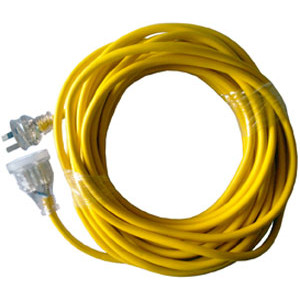 EXTENSION LEAD 25MTR YELLOW NORMAL DUTY