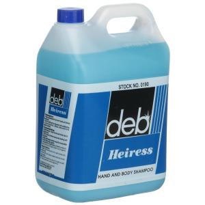 DEB  0190 DEB HEIRESS HAND AND BODY SHAMPOO CARTON OF 4 X 5 LITRES