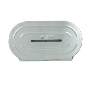 ABC DISPENSER JUMBO TWIN TOILET ROLL STAINLESS STEEL TO SUIT ALL STANDARD JUMBO TOILET ROLLS