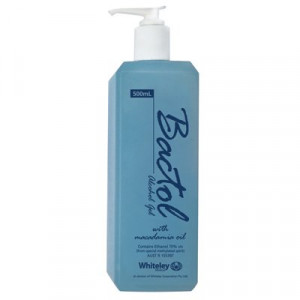 WHITELEY  020066 WHITELEY BACTOL ALCOHOL SANITISING GEL 500ML PUMP