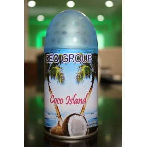 AIR  DG-COCO DEO AIR FRESHENER REFILL AEROSOL 300ML COCO ISLAND FOR AUTO DISPENSER