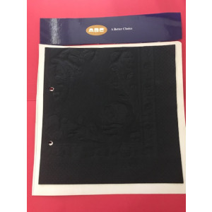 ABC  D-213BLK ABC  SERVIETTES LUNCHEON 2PLY BLACK 315MMX315MM 2000'S