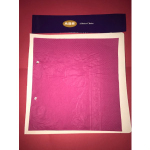 ABC  D-216HP ABC  SERVIETTES DINNER 1PLY HOT PINK 400MMX400MM 1000'S