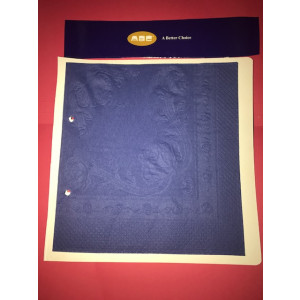 ABC  D-316DB ABC  SERVIETTES DINNER 3ply DARK BLUE 400mmx400mm 1000's