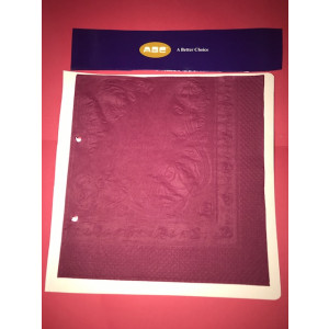 ABC  D-316BU ABC  SERVIETTES DINNER 3ply BURGUNDY 400mmx400mm 1000's