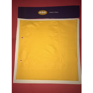 ABC  D-213GY ABC  SERVIETTES LUNCHEON 2ply GOLDEN YELLOW 315MMX315MM 2000'S