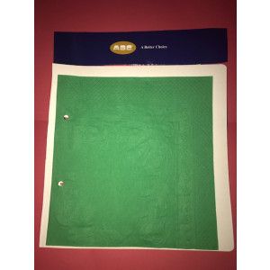 ABC  D-216DG ABC  SERVIETTES DINNER 1PLY DARK GREEN 400MMX400MM 1000'S