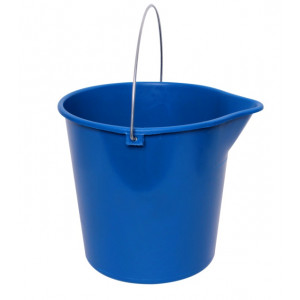 OATES BK-012BGRY OATES  ROUND BUCKET 12LTR WIRE HANDLE