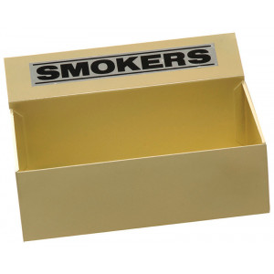 SABCO ASHTRAY FLOOR RECTANGULAR METAL SMOKERS