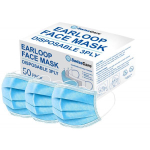 Disposable 3 Ply Masks 50 Per Pack